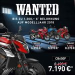 Honda Wanted Aktion 2019